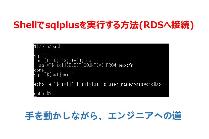 Shellでsqlplus実行