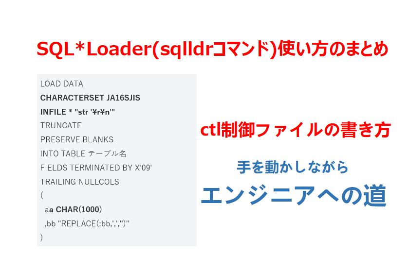 sqlloader制御ファイル書き方