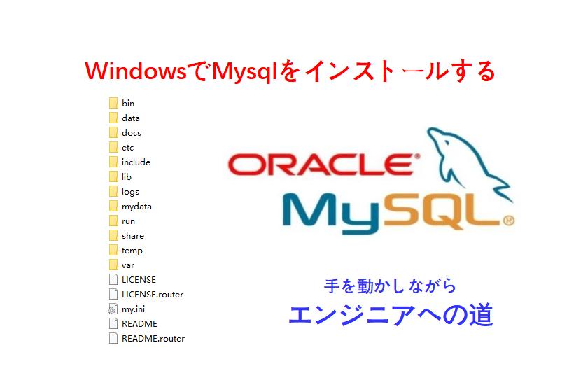 windowsでmysqlインストール