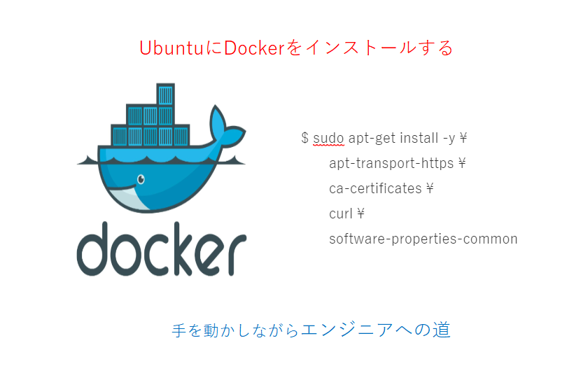 ubuntuにdockerをインストールする