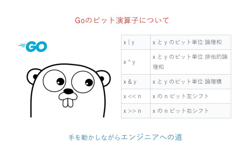 Goビット演算子について