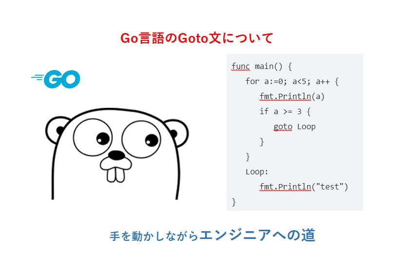 Go言語のgoto文