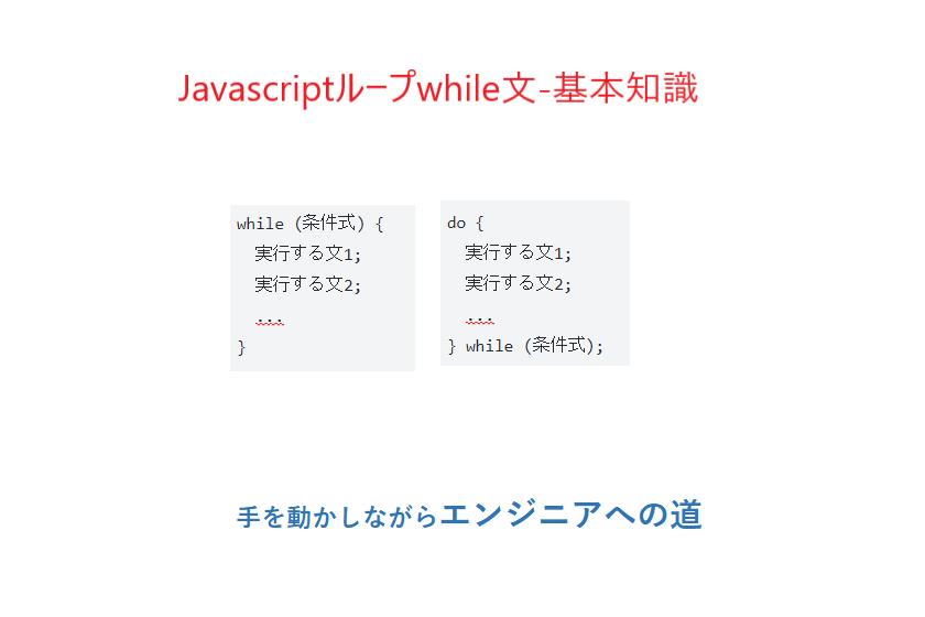 javascriptループwhile文