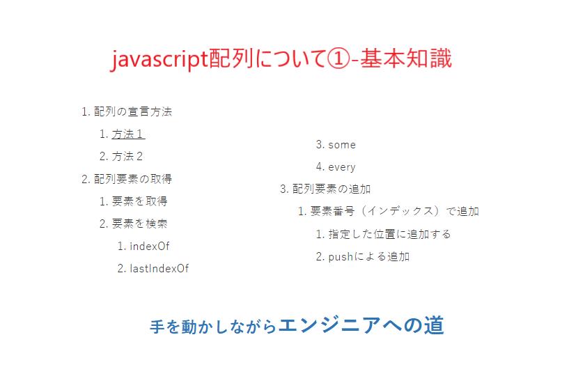javascript配列①