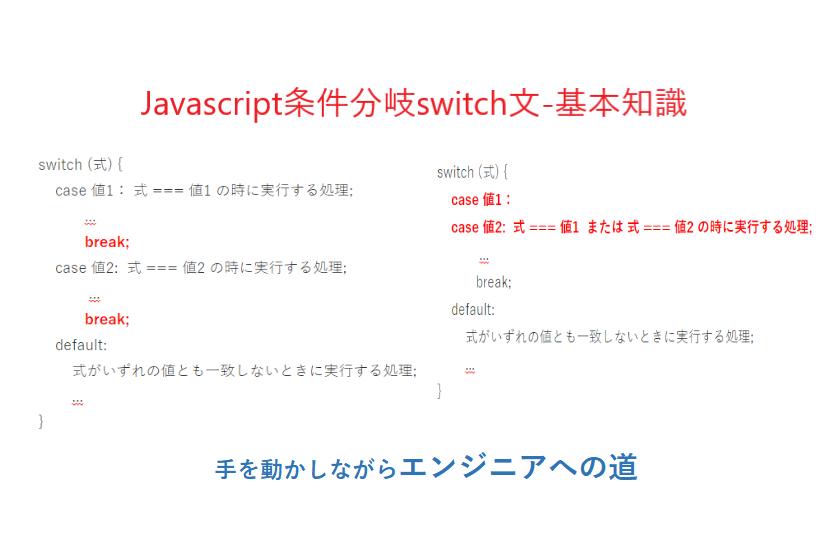 javascript条件分岐switch